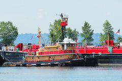Tugboat Franklin Reinauer in Erie Basin in Red Hook section of Brooklyn Stock Images