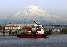 Tugboat Guide Vessel Waterfront Bay Thea Foss Waterway Rainier Royalty Free Stock Image
