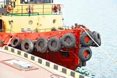 Tugboat in harbor quayside. On Odessa, Ukraine Stock Photo