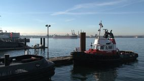 Tugboat harbor Vancouver, Canada stock video