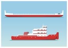 Tugboat i barka Obraz Stock