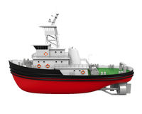 Tugboat Isolated Stock Photos