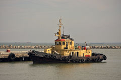 Tugboat. Kerch Strait. August 23, 2014 Stock Photos