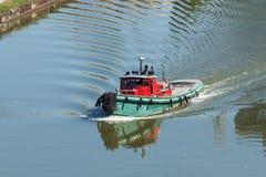 Tugboat Na Cuyahoga Fotografia Royalty Free