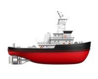 Tugboat Odizolowywający Fotografia Stock