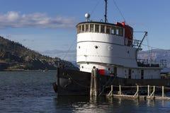 Tugboat Okanagan jezioro Penticton Fotografia Royalty Free