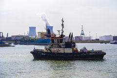 Tugboat in Port of Antwerp Royalty Free Stock Image