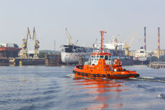 Tugboat at the Port of Gdansk, Poland Royalty Free Stock Photos