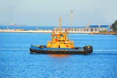 Tugboat in port Stock Image