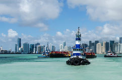 Tugboat. In the port of Miami Stock Images