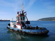 Tugboat in Port N Royalty Free Stock Photography