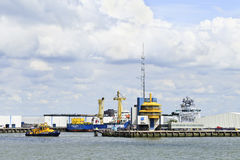 Tugboat in Port of Rotterdam. Stock Image