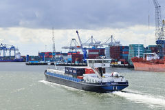 Tugboat in Port of Rotterdam. Royalty Free Stock Images