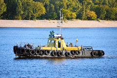 Tugboat on river Stock Photography