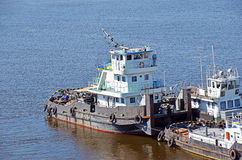 Tugboat on river Royalty Free Stock Photo