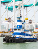 Tugboat sailing in the Port of Miami Stock Photos