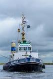 Tugboat Saturnus σε λειτουργία Στοκ φωτογραφίες με δικαίωμα ελεύθερης χρήσης