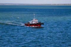 Tugboat on the sea Stock Photos