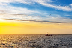 Tugboat on sea Royalty Free Stock Image