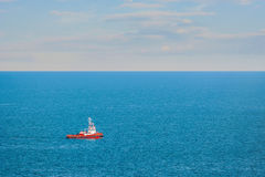 Tugboat in the Sea Royalty Free Stock Photography