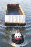 Tugboat and Shipping Container  Stock Photography