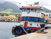 Tugboat on St. Kitts Royalty Free Stock Photos