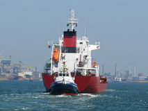 Tugboat and tanker Royalty Free Stock Image