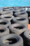 Tugboat tires. Stock Images