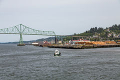 Tugboat Toward Astoria Royalty Free Stock Image