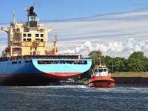 Tugboat Towing Ship Royalty Free Stock Image