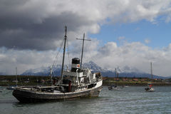 Tugboat in Ushuaia Royalty Free Stock Photo