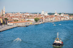 Tugboat in Venice Stock Photography