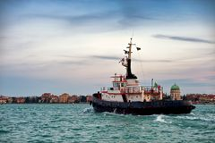 Tugboat in Venice Royalty Free Stock Images