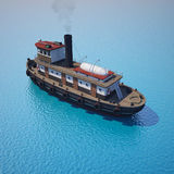 Tugboat on the water Royalty Free Stock Photos
