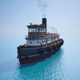 Tugboat on the water Stock Photos