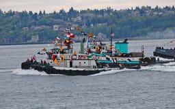 Tugboats ścigać się zdjęcie royalty free