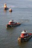 Tugboats στην πόλη της Νέας Υόρκης Στοκ Εικόνες