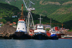 Tugboats. Royalty Free Stock Photo
