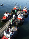 Tugboats at Dock Royalty Free Stock Images