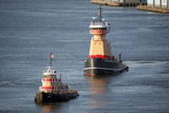 Tugboats in East River Royalty Free Stock Image