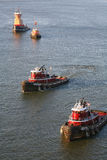 Tugboats in New York City Stock Photo