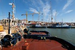 Tugboats przy à Rocha Conde De 'bidos Śmiertelnie w Lisbon Obraz Royalty Free