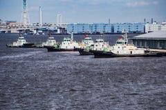 Tugboats przy odpoczynkiem w schronieniu Zdjęcia Royalty Free
