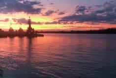 Tugboats przy Parana rzeką fotografia stock