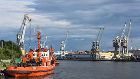 Tugboats at the quay Royalty Free Stock Image