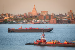Tugboats in Upper New York Bay Royalty Free Stock Photo