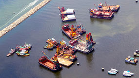 Tugboats w Hong kong Zdjęcia Stock