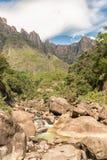Tugela cade, a 948m, la seconda cascata più alta su terra Fotografie Stock