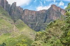 Tugela cade, a 948m, la seconda cascata più alta su terra Immagini Stock Libere da Diritti