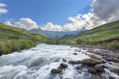 Tugela River, Amphitheatre and clouds Royalty Free Stock Photography